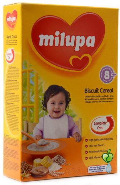 MILUPA Бебешка млечна каша бисквита 250гр.